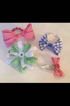 Cute bows and clips