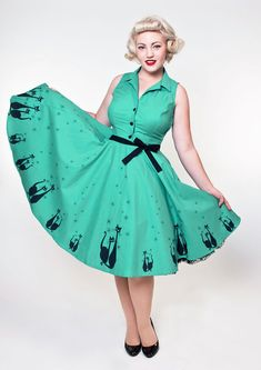 81e28437c0ae Circle Skirt Dress, Full Circle Skirts, Vintage Wear, Dresses For Sale,  Rockabilly