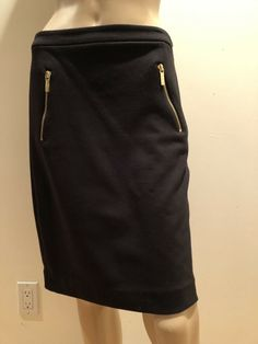 Lovely Doncaster Collection Black And White Cotton Lined Pencil Skirt Skirt Sz 12 High Quality Materials Skirts