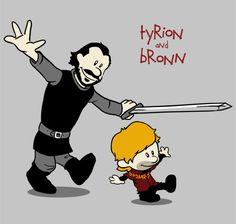 Funny pictures about Tyrion and Bronn. Oh, and cool pics about Tyrion and Bronn. Also, Tyrion and Bronn. Game Of Thrones Shirts, Game Of Thrones Fans, Valar Morghulis, Bronn Game Of Thrones, Calvin E Hobbes, Game Of Trone, My Sun And Stars, Winter Is Coming, I Am Game