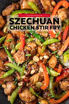 Szechuan Chicken, Thai Chicken, Chinese Stir Fry, Asian Stir Fry, Chinese Food, Meat Recipes, Dinner Recipes, Cooking Recipes, Recipes