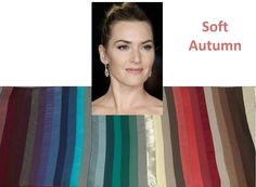 A few months ago, I was asked about Kate Winslet's season. Kate is a Soft Autumn. Check out how awesome she looks in soft and neutral colours