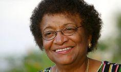 Liberia - Nobel prize winner, Ellen Johnson-Sirleaf first woman president in Africa