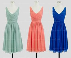 Short prom dress chiffon prom dress short bridesmaid by sposadress, $89.00