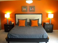Black Bedroom Ideas Inspiration For Master Designs Blackgrey Orange