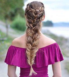 Dutch Fishtail Braid by @braidsbyjordan with her Dirty Blonde Luxy Hair Extensions  Photo By: https://instagram.com/p/68jC7Cv35N/?taken-by=braidsbyjordan  #LuxyHairExtensions