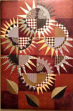 Sunflower paper quilt