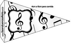 Bandeirinha Sanduiche 4 Notas Musicais