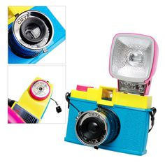 Lomography CMYK Diana F+ Flash Camera 75mm Lens 120 Film Analog Point and Shoot #Lomography
