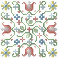 The Floss Box | Biscornu 435 Pdf pattern