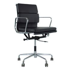169 Eames Style Turquoise Soft Pad Style Executive Office Chair