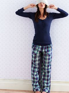 The Dreamer Henley Pajama - Victoria's Secret pink soda/plaid, heather grey/stripe, ink blot/plaid, pirouette pink/ leopard