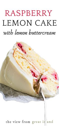 Just Desserts, Delicious Desserts, Yummy Food, Tasty, Light Desserts, Raspberry Lemon Cakes, Strawberry Cakes, Bolo Cake, Slow Cooker Desserts