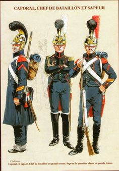 NAP- France: Les Sapers du Genie del la Garde Imperial by Michel Pétard. Historical Costume, Historical Clothing, Toy Soldier Costume, Empire, Revolution Clothing, Military Divisions, French Pictures, Military Costumes, Crusader Knight