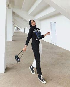 Modest Fashion Hijab, Modern Hijab Fashion, Casual Hijab Outfit, Hijab Fashion Inspiration, Muslim Fashion, Fashion Outfits, Hijab Dress, High Street Fashion, Street Hijab Fashion