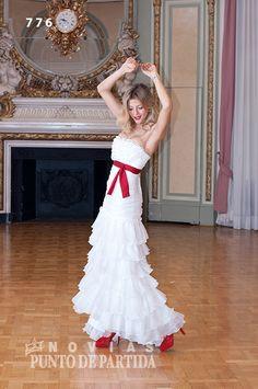 Vestido de novia /wedding dress - con volados estilo español
