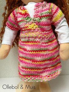 Gebreide jurk, jurk, Waldorf kleding, poppen van Ollebol & Muis op DaWanda.com SOLD