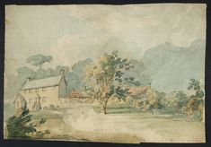 Turner Artist Landscapes | ... William Turner A House with Outbuildings in a Wooded Landscape ?1791-2