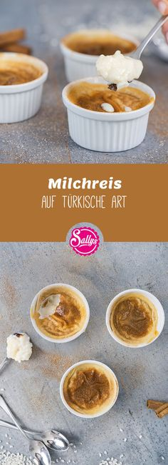 Creamy rice pudding in turkish style, baked to order. - Creamy rice pudding in turkish style, baked to order. Creamy Rice Pudding, Latte, Sushi, Rice Recipes For Dinner, Vegan Kitchen, Turkish Recipes, Rice Krispie Treats, Evening Meals, Food And Drink