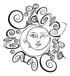 Moon and Sun as Lovers by *bear48 on deviantART