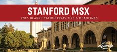 stanford msx application essay tips deadlines gre prep Gre Test, Gre Prep, Essay Tips, Application Form, Club, Writing Advice