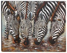 African Watering Hole Modern Wall Art