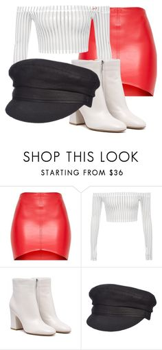 A fashion look from August 2017 featuring striped off the shoulder top, red mini skirt and heeled booties. Browse and shop related looks. Red Mini Skirt, Mini Skirts, Off The Shoulder, Polyvore, Fashion Looks, Booty, Shopping, Spring, Swag