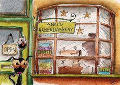 Ann's Haberdashery by stressiecat on Etsy