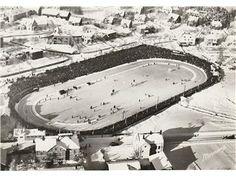 Skøyteløp på Hamar stadion ca 1960 Normann