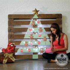DIY pallet Christmas tree - Tutorial - How to - Madame...
