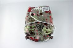 Christmas Cloth Diaper  One Size Fitted Cloth Diaper by BICKLEBEAR