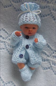"""#48 Baby Boy Girl DK Cable Style All-in-One 18-20/"""" 46-51cm Vint Knitting Pattern"""