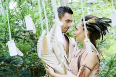 """Pocahontas Bridal headpiece from Madame B's Boutique. For more Alternative Wedding inspiration, check out the No Ordinary Wedding article """"20 Quirky Alternatives to the Traditional Wedding""""  http://www.noordinarywedding.com/inspiration/20-quirky-alternatives-traditional-wedding-part-4"""
