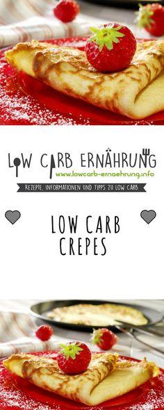 Low Carb Rezept für leckere, zuckerfreie Crepes mit wenig Kohlenhydraten. Low Carb, ohne Zucker und einfach und schnell zum Nachmachen. Perfekt zum Abnehmen.