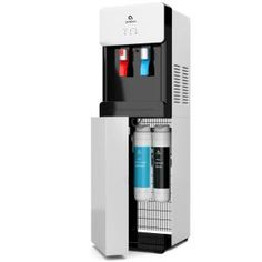Avalon Self Cleaning Bottleless Water Cooler Dispenser Hot & Cold Water Child Safety Lock Innovative Slim Design UL/Energy Star Approved- White - Water Cooler and Dispenser - Ideas of Water Cooler and Dispenser White Kitchen Cart, White Kitchen Island, Single Bowl Kitchen Sink, Kitchen Sinks, Kitchen Remodel, Water Spout, Water Faucet, Rev A Shelf, Water Coolers