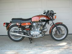 This is a 1974 Ducati 750GT bevel drive owned by Bevel Heaven founder Steve Allen.  Roundcase bevels are pure art.