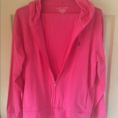 NWT Ralph Lauren lounge set NWT RL Polo lounge set. Pretty bright pink  pants are a medium, hoodie is a large. Polo by Ralph Lauren Other