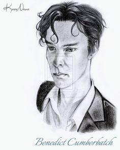 Benedict Cumberbatch portrait.