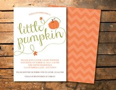 Fall Pumpkin Baby Shower Invitations | To Be, Baby Showers And Fall Harvest