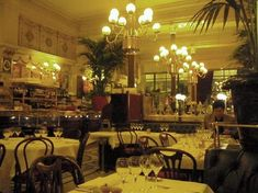 "Le Grand Colbert brasserie in Paris. One of our favorites, beloved for its zesty lentil salad (in our book). Jumped out of the theatre seats when we saw it featured in the 2003 Diane Keaton movie, ""Something's Gotta Give."""