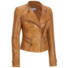 Marc New York Asymmetrical Zip Leather Jacket w/Double Pockets and... ($200) ❤ liked on Polyvore