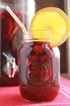Cranberry Pomegranate Sangria Try white wine for a fabulous change