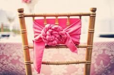 creative chair sash (photo by the photographix)
