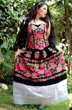 7bc704875d65 Gorgeous Brand New Tehuana Dress Frida Khalo Style. Gloria Vidal · Wanelo ·  Gorgeous Mexican Weeding Outfit Embroidered ...