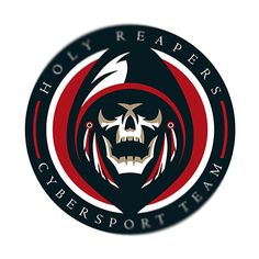 Esport logo Holy Reapers on Behance Game Logo Design, Branding Design, Hacker Logo, Airsoft, Grim Reaper Art, Team Logo, Skull Logo, Skull Art, Esports Logo