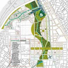 Taichung Gateway park by Stan Allen Architects - Dezeen Modern Residential Architecture, Architecture Portfolio, Landscape Drawings, Dezeen, Master Plan, Urban Planning, Life Inspiration, Urban Design, Ecology