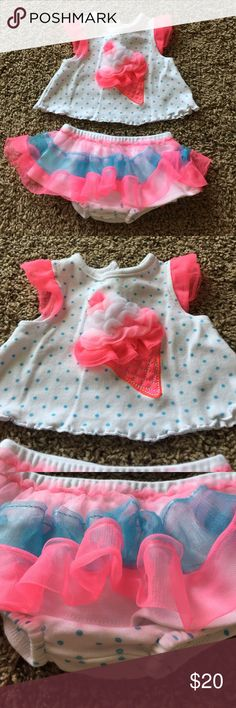 Tutu Outfit Sz 3mos Ice Cream from Dillards Pink white and blue Starting Out Other