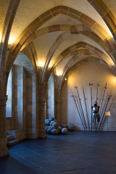 Vianden Castle - Luxembourg - the Arms Hall