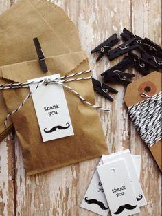 CIJ SALE Birthday Party Favors Mustache Bash