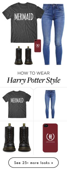 """Mermaid❤️"" by toty1008 on Polyvore featuring Levi's and Dr. Martens"
